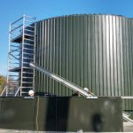 Leachate plant at landfill site