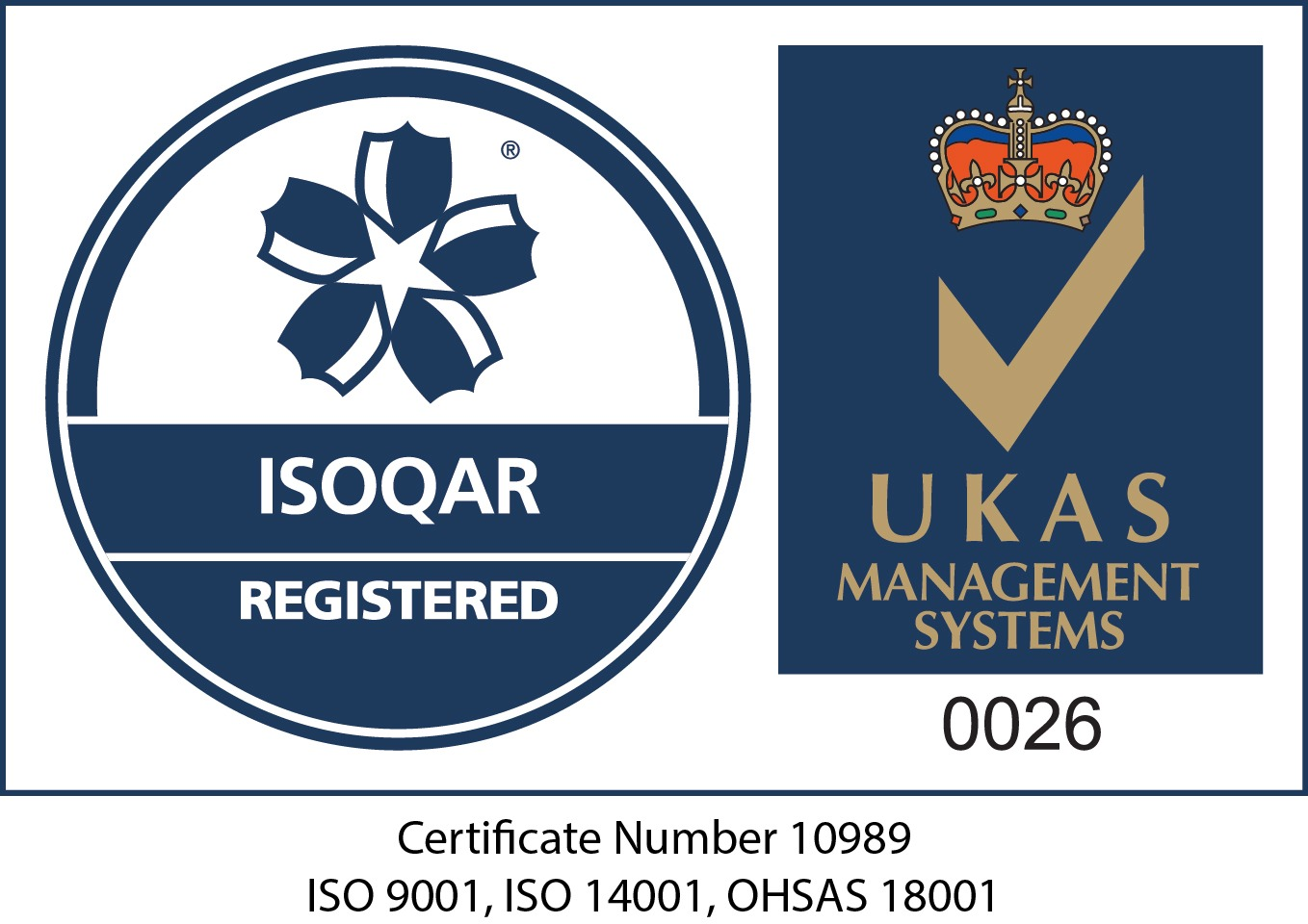 Wiser Environment's ISOQAR management systems logo