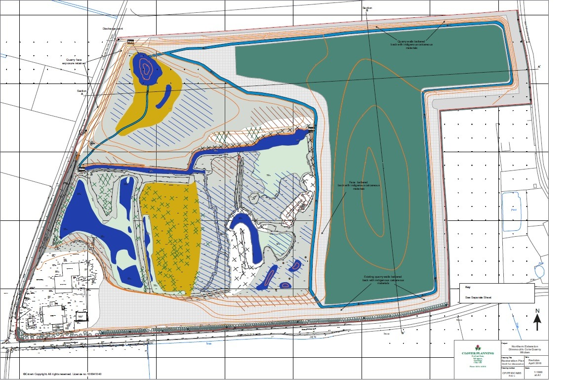 site drawing for bespoke environmental permit application