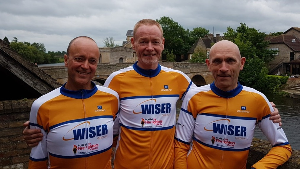 (left to right) Russell Hirst, Dom Hirst, Charles Thomas